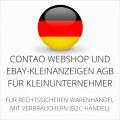 abmahnsichere Contao Webshop und Ebay-Kleinanzeigen AGB für Kleinunternehmer