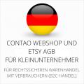 abmahnsichere Contao Webshop und Etsy AGB für Kleinunternehmer