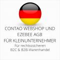 abmahnsichere Contao Webshop und Ezebee AGB B2C und B2B für Kleinunternehmer