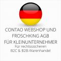abmahnsichere Contao Webshop und Froschking AGB B2C und B2B für Kleinunternehmer