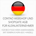 abmahnsichere Contao Webshop und Shopgate AGB für Kleinunternehmer