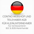 abmahnsichere Contao Webshop und Teilehaber AGB B2C und B2B für Kleinunternehmer