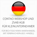 abmahnsichere Contao Webshop und ZVAB AGB für Kleinunternehmer