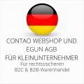 abmahnsichere Contao Webshop und eGun AGB B2C und B2B für Kleinunternehmer