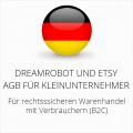 abmahnsichere Dreamrobot und Etsy AGB für Kleinunternehmer
