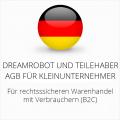 abmahnsichere Dreamrobot und Teilehaber AGB für Kleinunternehmer