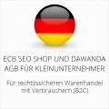 abmahnsichere ECB SEO Shop und Dawanda AGB für Kleinunternehmer