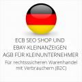abmahnsichere ECB SEO Shop und Ebay-Kleinanzeigen AGB für Kleinunternehmer