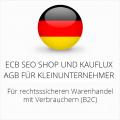 abmahnsichere ECB SEO Shop und Kauflux AGB für Kleinunternehmer