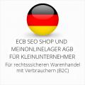 abmahnsichere ECB SEO Shop und Meinonlinelager AGB für Kleinunternehmer