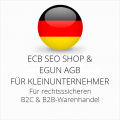 abmahnsichere ECB SEO Shop und eGun AGB B2C und B2B für Kleinunternehmer