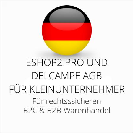 abmahnsichere ESHOP2 Pro und Delcampe AGB B2C und B2B für Kleinunternehmer