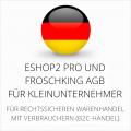 abmahnsichere ESHOP2 Pro und Froschking AGB für Kleinunternehmer