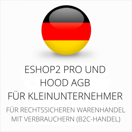 abmahnsichere ESHOP2 Pro und Hood AGB für Kleinunternehmer