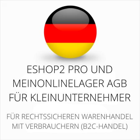 abmahnsichere ESHOP2 Pro und MeinOnlineLager AGB für Kleinunternehmer