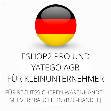 abmahnsichere ESHOP2 Pro und Yatego AGB für Kleinunternehmer