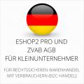 abmahnsichere ESHOP2 Pro und ZVAB AGB für Kleinunternehmer