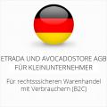 abmahnsichere Etrada und Avocadostore AGB für Kleinunternehmer