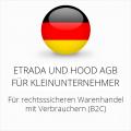 abmahnsichere Etrada und Hood AGB für Kleinunternehmer