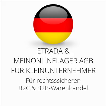 abmahnsichere Etrada und Meinonlinelager AGB B2C und B2B für Kleinunternehmer