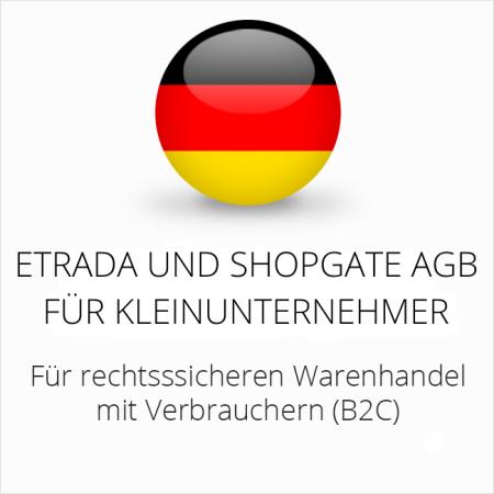 abmahnsichere Etrada und Shopgate AGB für Kleinunternehmer