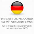 abmahnsichere Evergreen und Allyouneed AGB für Kleinunternehmer