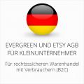 abmahnsichere Evergreen und Etsy AGB für Kleinunternehmer