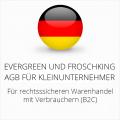 abmahnsichere Evergreen und Froschking AGB für Kleinunternehmer