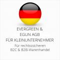 abmahnsichere Evergreen und eGun AGB B2C und B2B für Kleinunternehmer