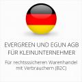 abmahnsichere Evergreen und eGun AGB für Kleinunternehmer