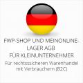 abmahnsichere FWP-Shop und Meinonlinelager AGB für Kleinunternehmer