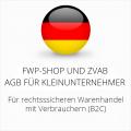 abmahnsichere FWP-Shop und ZVAB AGB für Kleinunternehmer