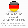abmahnsichere Fairmondo und ZVAB AGB für Kleinunternehmer
