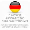 abmahnsichere Flinky und Allyouneed AGB für Kleinunternehmer