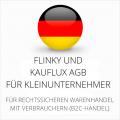 abmahnsichere Flinky und Kauflux AGB für Kleinunternehmer