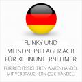abmahnsichere Flinky und MeinOnlineLager AGB für Kleinunternehmer