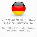 abmahnsichere Jabba24 und Allyouneed AGB für Kleinunternehmer