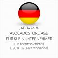 abmahnsichere Jabba24 und Avocadostore AGB B2C und B2B für Kleinunternehmer