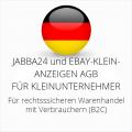 abmahnsichere Jabba24 und Ebay-Kleinanzeigen AGB für Kleinunternehmer