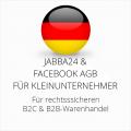 abmahnsichere Jabba24 und Facebook AGB B2C und B2B für Kleinunternehmer