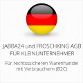 abmahnsichere Jabba24 und Froschking AGB für Kleinunternehmer