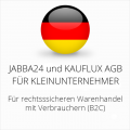 abmahnsichere Jabba24 und Kauflux AGB für Kleinunternehmer