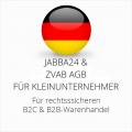 abmahnsichere Jabba24 und ZVAB AGB B2C und B2B für Kleinunternehmer