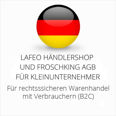 abmahnsichere Lafeo Händlershop und Froschking AGB für Kleinunternehmer