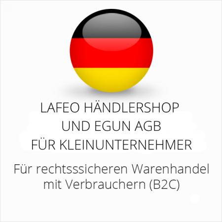 abmahnsichere Lafeo Händlershop und eGun AGB für Kleinunternehmer