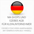 abmahnsichere MA-Shops und Ezebee AGB für Kleinunternehmer