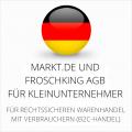 abmahnsichere Markt.de und Froschking AGB für Kleinunternehmer