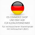 abmahnsichere OS Commerce Shop und Ebay AGB für Kleinunternehmer
