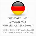 abmahnsichere Opencart und Amazon AGB für Kleinunternehmer