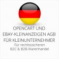 abmahnsichere Opencart und Ebay-Kleinanzeigen AGB B2C und B2B für Kleinunternehmer